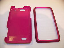 MOTOROLA DROID 4 BRIGHT PINK RUBBERIZED HARD PLASTIC CASE BY CASE MATE