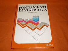 fondamenti di statistica di giovanna togliatti hoepli 1976