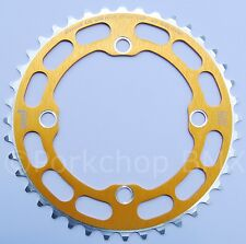 Porkchop BMX single speed bicycle Chop Saw I Chainring 40T 4 bolt 104 bcd GOLD
