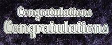 All Occasion Dies  Congratulations Word Set 2 Sizes Metal Dies Robert Addams 014