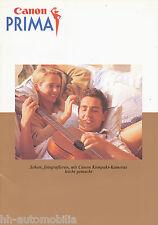 Prospetto Canon prima 9/97 brochure opuscolo CAMERA FOTOCAMERA 1997 Photografica