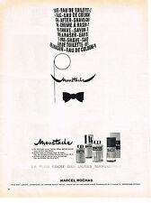 PUBLICITE 1967   MARCEL ROCHAS   parfum MOUSTACHE cosmétiques