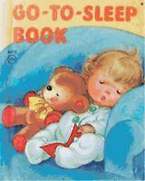 Vintage Go To Sleep Book Handmade DIGITAL Counted Cross-Stitch Pattern Chart