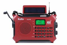 Kaito KA700 Next Gen Emergency Radio (vs. KA500, KA600) BT, SD, RCD, etc. Red