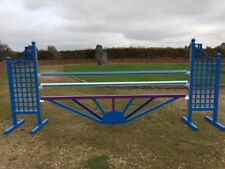 Purple, Blue and Light Blue Sunrise Aluminium Show jump Fillers-For Showjumping