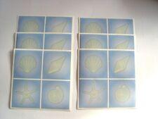 6x d-c-fix Fliesen-Sticker Aufkleber selbstklebend je 14,6x14,6cm Muscheln