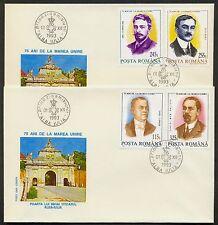 1993 Union 1918,I.C.Bratianu,freemason,Maniu,Flondor,Halippa,Romania,Mi.4932,FDC