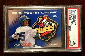 2012 Multi-Ad Javier Baez Peoria Chiefs Minor League Card #1  PSA 9 Mint