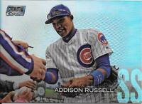 Addison Russell 2018 Topps Stadium Club CHROME REFRACTOR Cubs #SCC-286