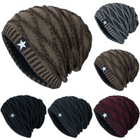 Mens Womens Winter Cable Knit Warm Hat Beanie Slouch Ski Baggy Skull Caps Unisex