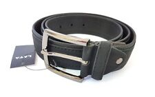 Cinta Cintura Uomo Pelle Nera Tessuto A-244 Elegante Glamour Fashion Moda hac