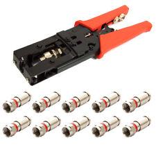 PremiumX PX-582 Kompressionszange Werkzeug SAT + 10x Kompressionsstecker 7,5mm