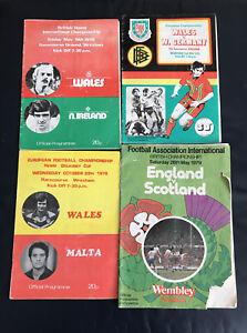 Wales International Programme : 1978/79 : Qty 4