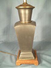ANTIQUE MID CENTURY ASIAN GINGER JAR PEWTER LAMP