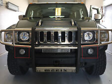 2003 2009 Hummer H2 LED Bumper Fog Lights Pair Front Daytime Running Lamp