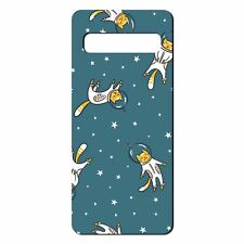 For Samsung Galaxy S10 Silicone Case Cats in Space Pattern - S111