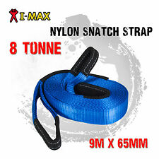 I-Max 4WD 4X4 Winch Recovery 100% Nylon Snatch Strap 8 Tonne 8000 KGS Offroad
