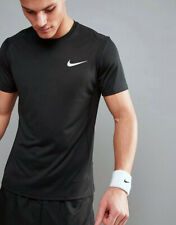 Nike Dry Miler Running T-Shirt Men's Size:Small 872021-010 Black Dri-Fit Upf 40+