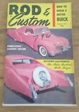 Vintage Rod & Custom Magazine August 1957 Build a Better Buick Rolls Royce