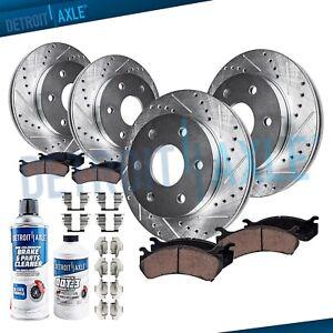 Front & Rear Brake Rotors + Brake Escalade Silverado Suburban Rotor Brakes Pad