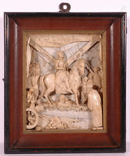 """""""Prince Eugen in Battle of Belgrad"""", Austrian Nat. Mat. Relief, Early 19th Cent."""