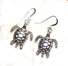 silver earrings hooks pewter charms Sea Turtle Earrings Turtles 925 sterling