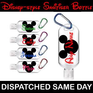 Disney Keyring Carabiner Personalised Travel Bottles Sanitiser Gel 50ml (Empty)