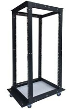 "Sysracks 42U 4 Post Open Frame 19"" Network Server Rack Adjustable Depth 24""-36"""