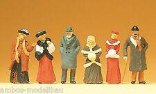 Preiser 12197 H0 Passanten in winterlicher Kleidung, 6 Figuren, handbemalt, Neu