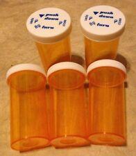 HUGE LOT 50 pcs NEW 40 Dram Medicine Prescription Vials Bottles w/ Safety Cap