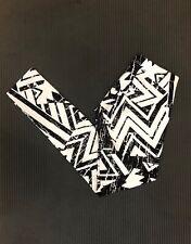 Charlotte Russe Patterned Print Leggings Black Small S