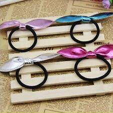 4PCS Lot Cute Baby Girls Rabbit Ears Rubber Hair Tie Band Hair Accessories Band