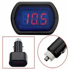 Digital LED Volt Meter Auto Car Cigarette Lighter Voltage Gauge Battery Tester