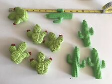 Vtg Set Of 9 Cactus Desert Southwestern Plastic String Light Covers RV's