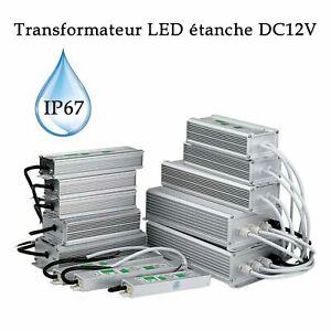 Transformateur électronique LED étanche IP67 DC12V Bloc d'alimentation LED