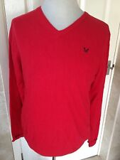 Crew Clothing Mens Red Jumper With Cashmere Size S. Good Condition.