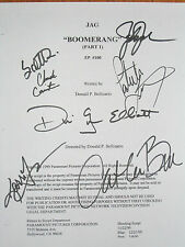 JAG Signed TV Script X7 David James Elliott Bell Jackson Turner Culp reprint