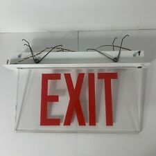 Exit Sign Lighted Clear Panel Ceiling Mount SureLites Emergency Equipment ESH71