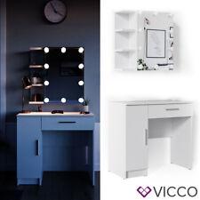 Vicco Table de maquillage Fynnia commode de coiffeuse miroir LED blanc
