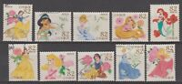Japan 2015 Disney Characters full set of 82 Yen used stamps