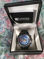 Barkers of Kensington Mega Sport midnight BLUE Dial MENS WATCH (SPR: £515)