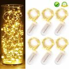 White 1m 10 LED Battery Power Operated Copper Wire Mini Fairy Light String Decor