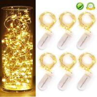 1m 10 LED Battery Power Operated Copper Wire Mini Fairy Light String Decor
