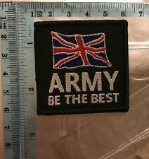 British Army Be The Best Sew On Union Jack Embroidered Patch Badge N-703