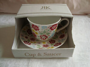 NEW/BOXED  Floral  ROY KIRKHAM Breakfast CUP & SAUCER