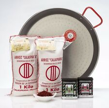 Paella Kit - 2kg Paella Rice, 2x 70g Paprika, 3g Saffron and 38cm Garcima Pan