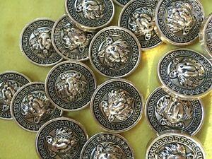 Löwenkopf * 10 st.* Knöpfe.Buttons.Gold.Mantelknöpfe.Lionhead.Cabeza de León