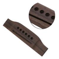 1Pc Saddle Thru Guitar Bridge Guitar Parts For Acoustic Guitar Rosewood Bridge