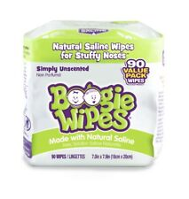 Boogie Wipes Unscented Natural Saline Wipes 90 Pack