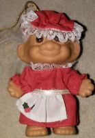 Vintage Russ Mini Small Troll Christmas Ornament